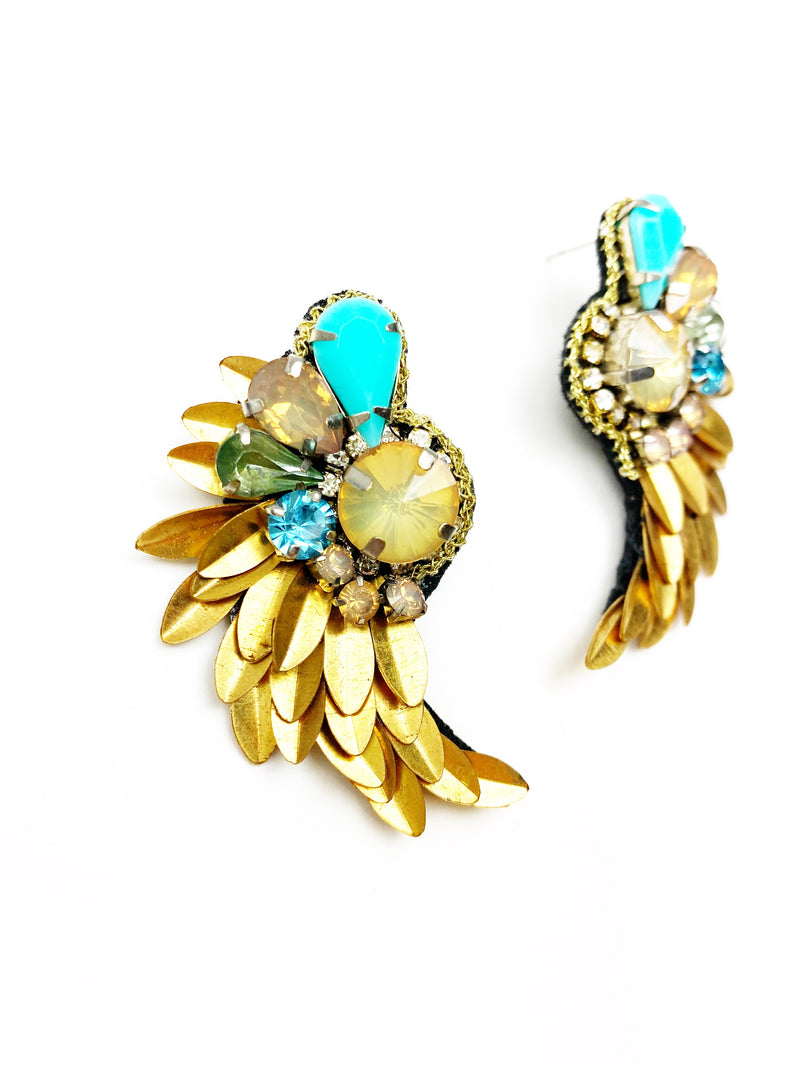 Angel Wing Earrings - Turquoise