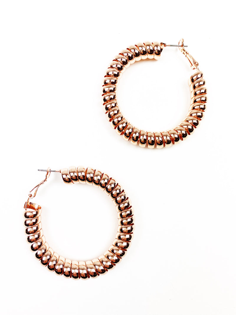 Twisted Sister Hoops - Rose Gold