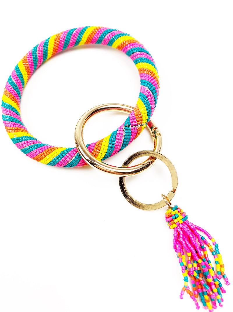 Just Bead It Keychain - Pink