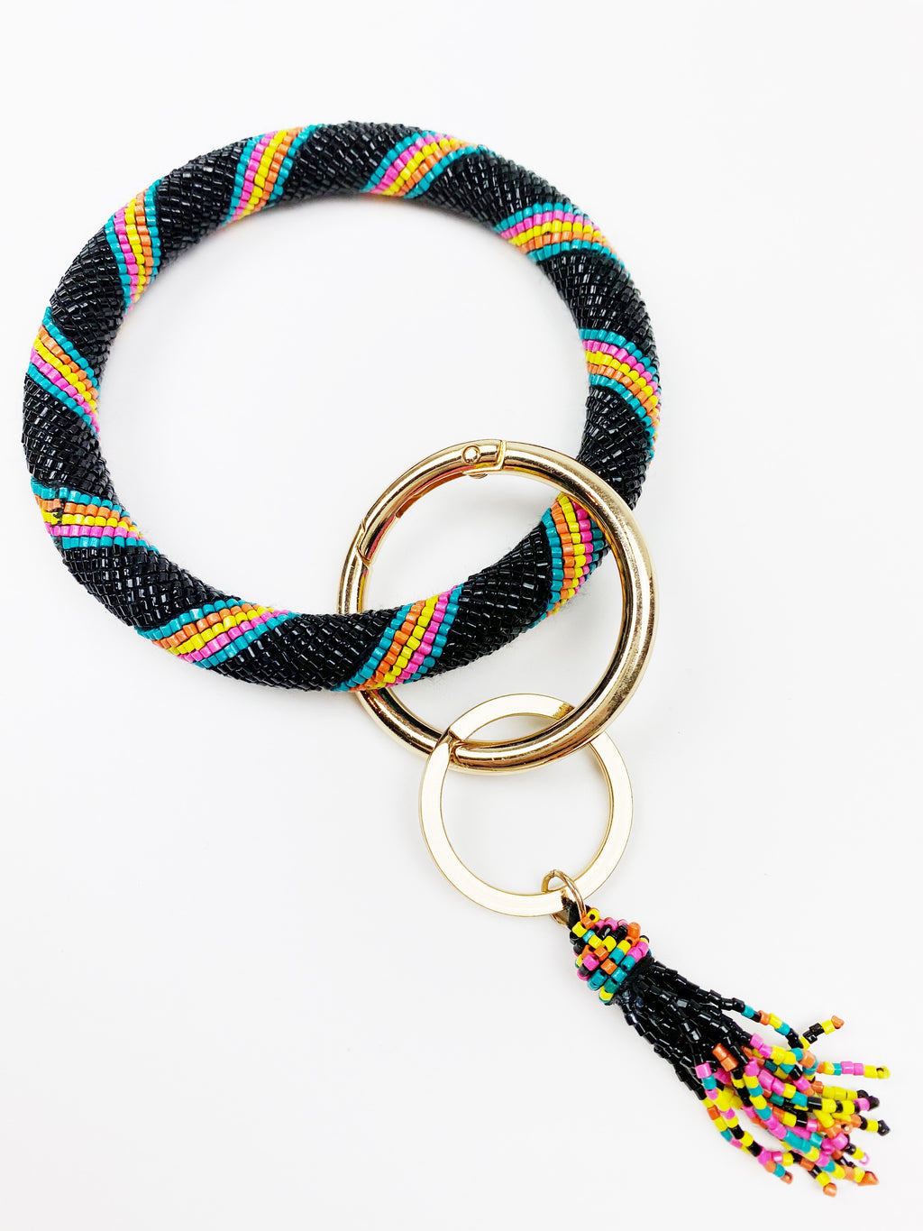 Just Bead It Keychain - Black