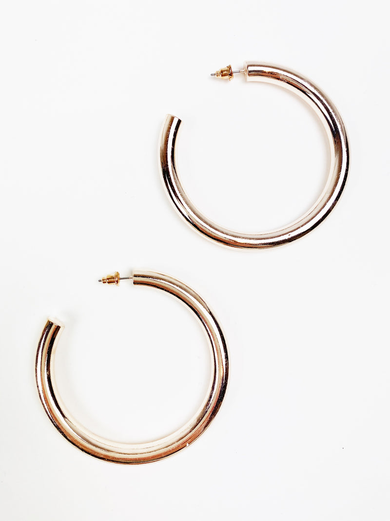 Thicky Thick Mini Hoops - Rose Gold
