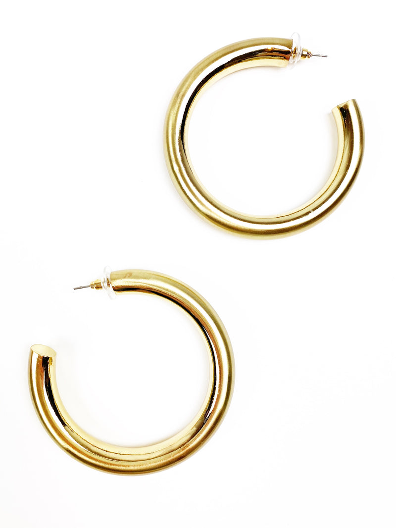 Thicky Thick Hoops - Brass