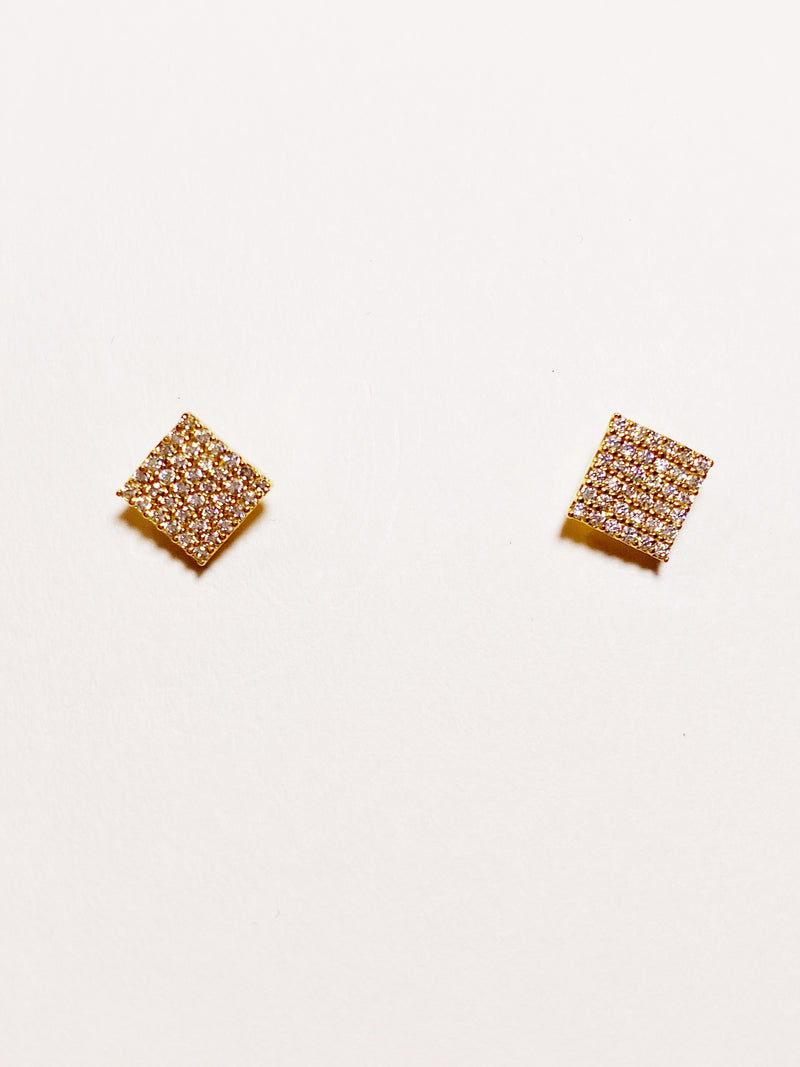 Diamond Grid Studs