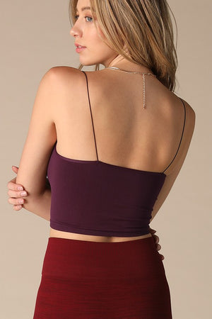 Basic Crop Top - Cognac