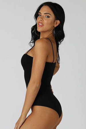Ribbed Bodysuit - Black ONLINE ONLY