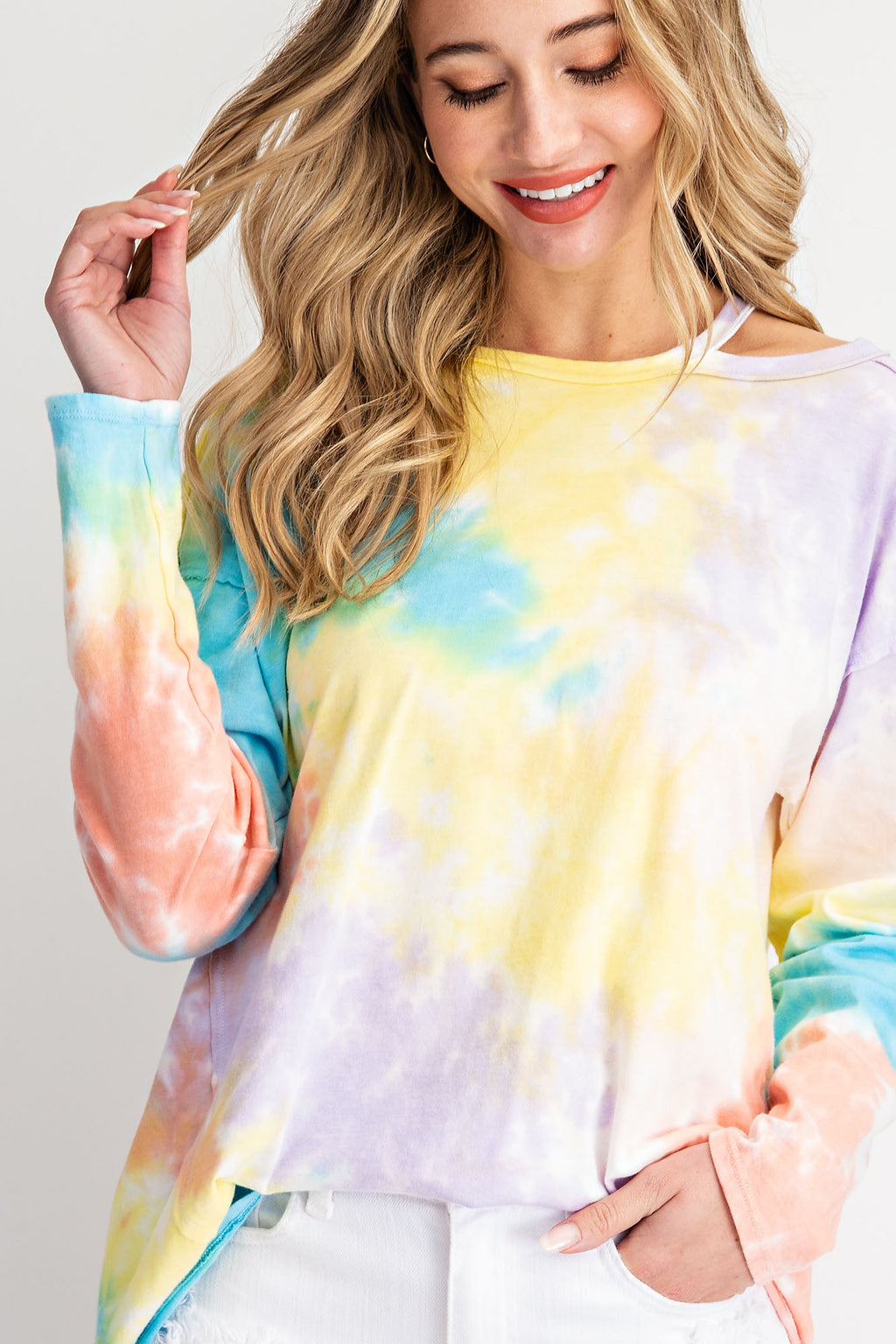 Tie Dye Vibes Long Sleeve Top