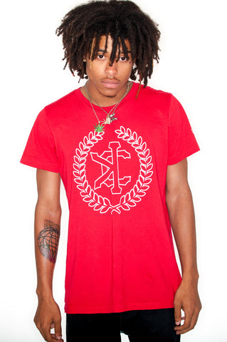 "Red ""Limited Edition"" Crest Outline Tee"