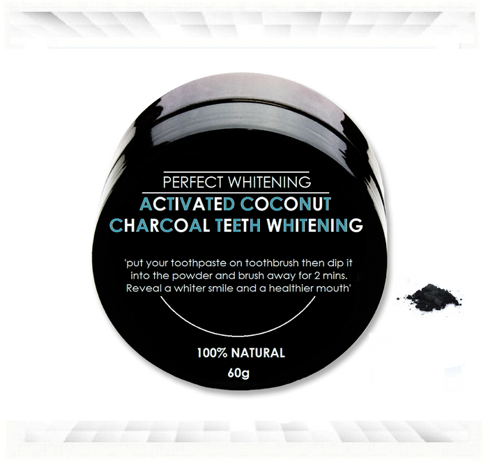 PerfectWhitening Activated Charcoal Natural Teeth Whitener Powder 60g