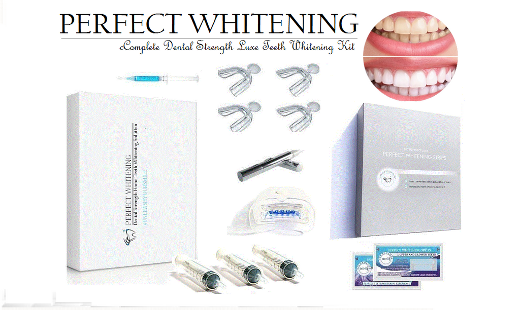 Strongest PRO- Teeth Whitening KIT & WhiteStrips LUXE System + Bonus dentist whitening booster set