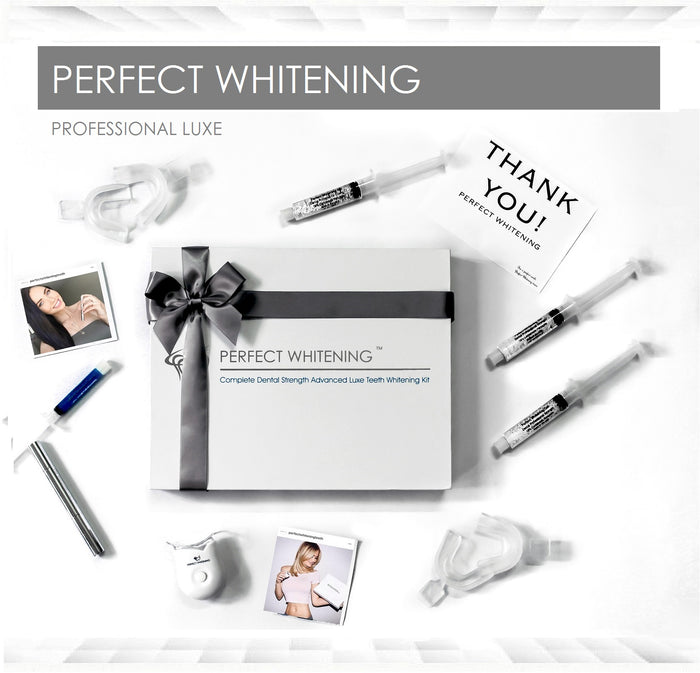 Complete Professional Teeth Whitening Kit LUXE System + bonus Whitening Pen
