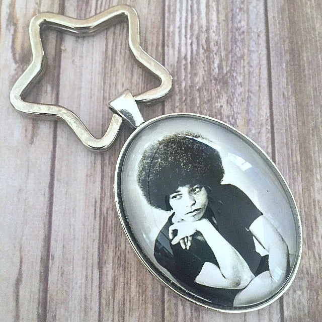 Angela Davis Key Chain