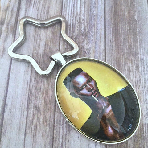 Grace Jones Key Chain
