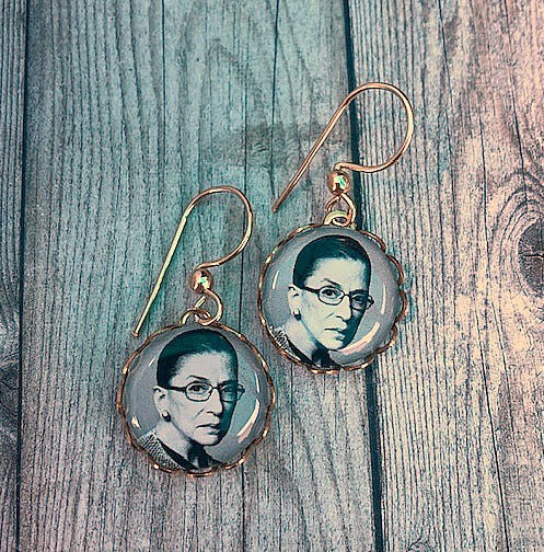 Ruth Bader Ginsburg Earrings - 14K GF