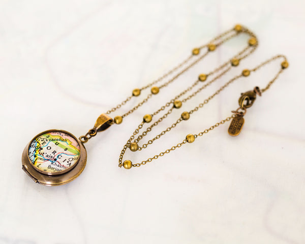 I Love My Hometown • Map Locket