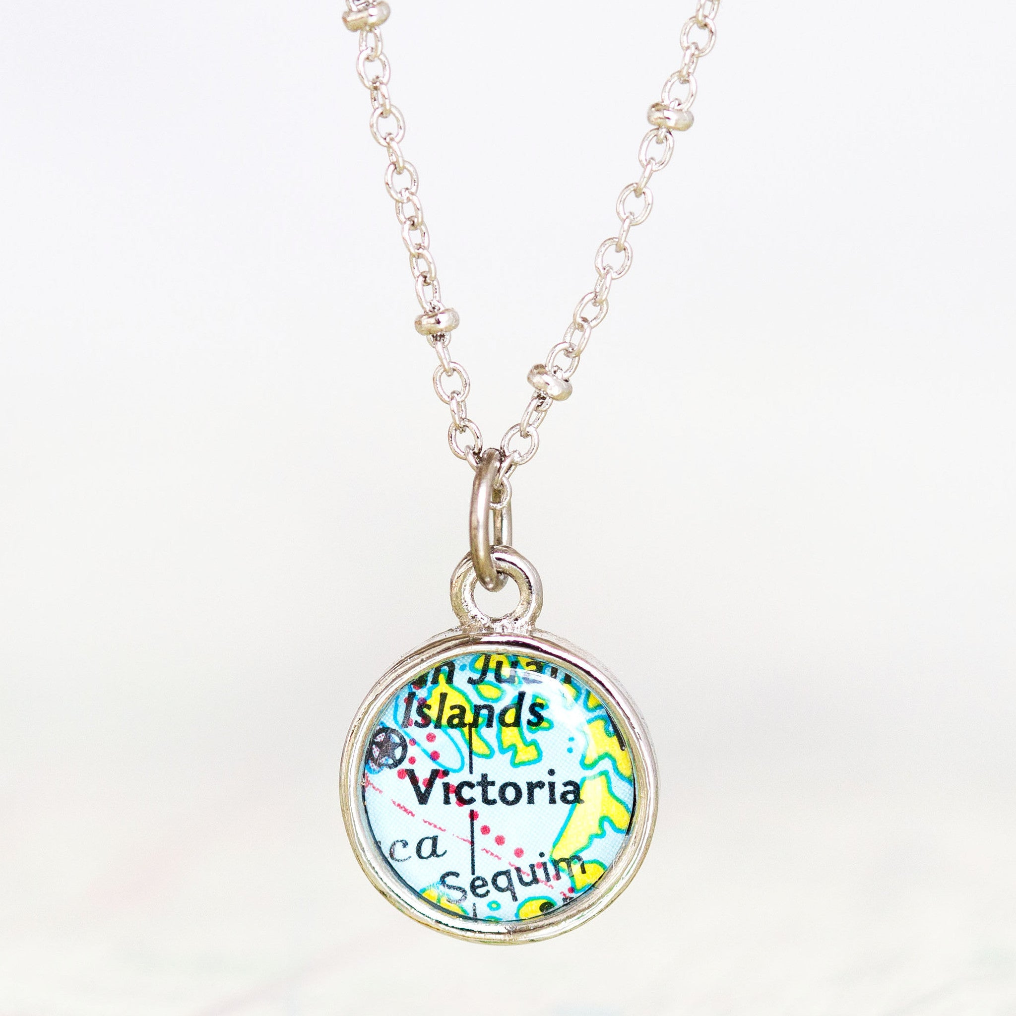 Ella Enchanted • Map Name Necklace
