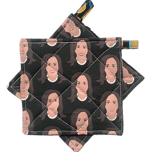 Madame Vice President Pot Holders Black