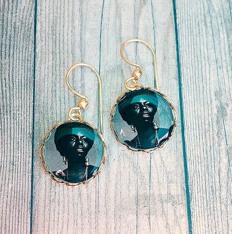 Nina Simone Earrings - 14K GF