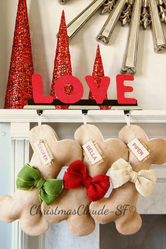 Burlap Christmas Stockings for Dogs