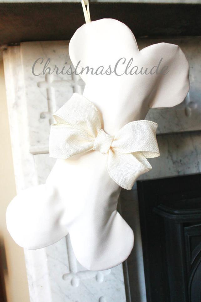 Ivory Christmas Stockings for Dogs