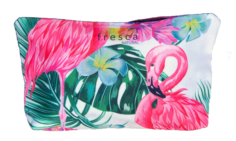 Fresca's Cotton Cosmetic Bag. Size 21.5cm x 14.5cm. Holds three deodorants.