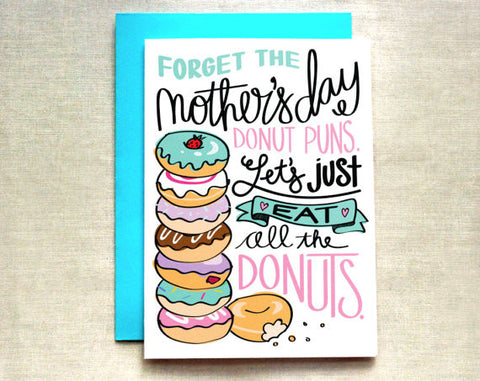 Donut Mother's Day Card by Ella Paperie