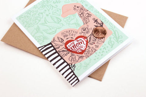 Tattoo Arm Scratch-off Card by Inklings Paperie