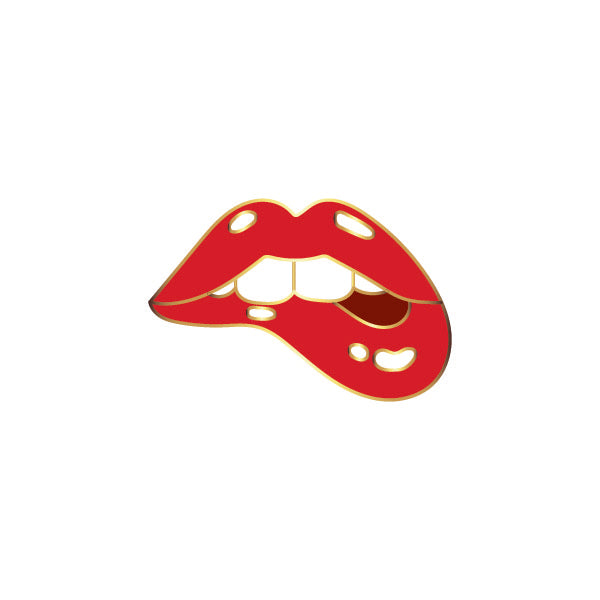 Bite Me Lips Pin