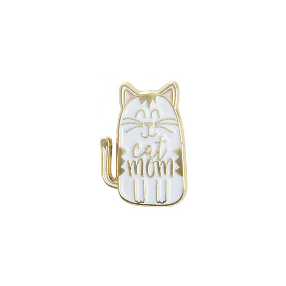 Cat Mom Enamel Pin