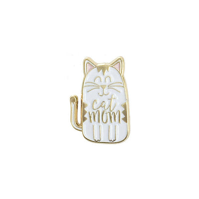 Cat Mom Pin