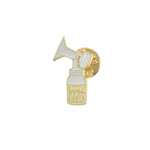 Liquid Gold Enamel Pin
