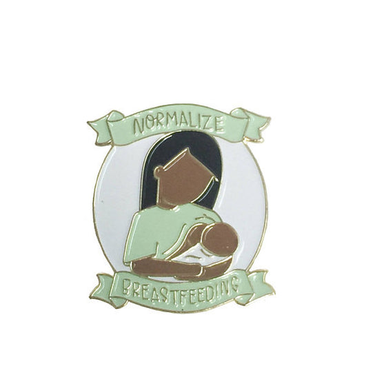 Normalize Breastfeeding Enamel Pin