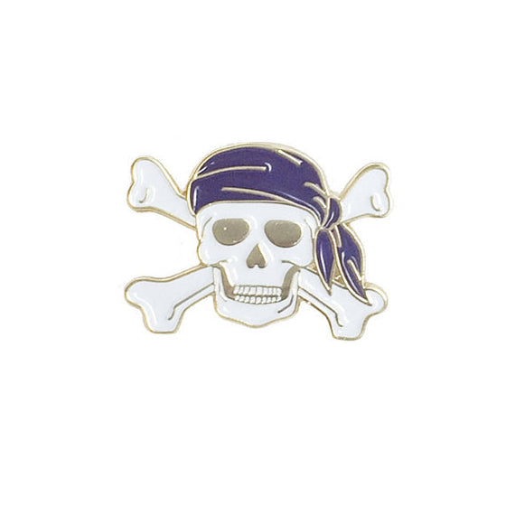 Pirate Skull Enamel Pin