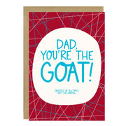 GOAT Father's Day Card by Little Lovelies Studio