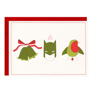 Jingle Bells, Batman Smells Funny Holiday Greeting Card