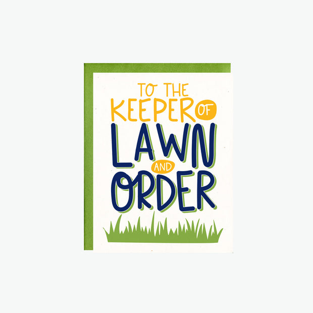 Lawn And Order Card