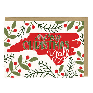 Merry Christmas Y'all Greeting Card Boxed Set