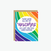 Out Of Unicorns Card