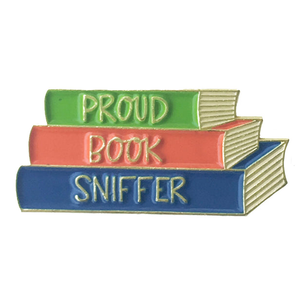 Proud Book Sniffer Pin