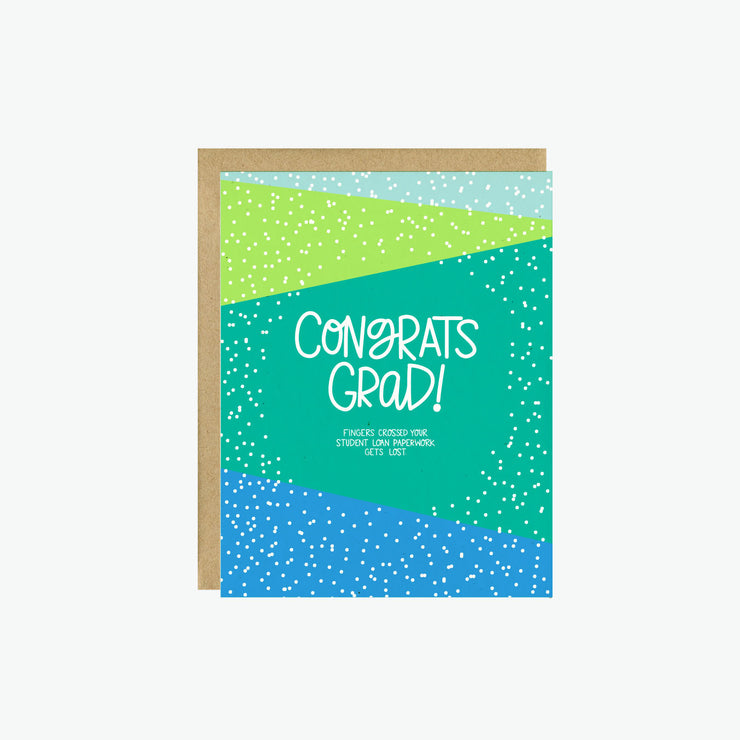 Student Loan Paperwork Graduation Card