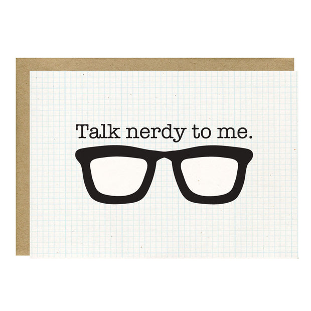 Talk Nerdy to Me Greeting Card - Little Lovelies Studio