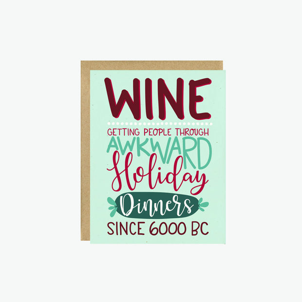 Wine Holiday Card