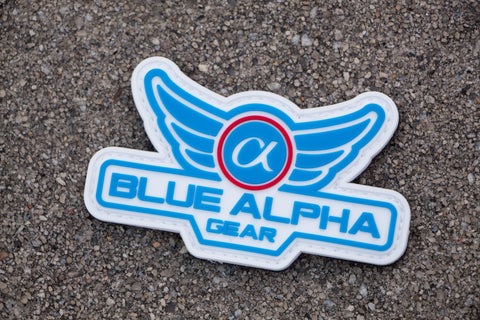 Blue Alpha Gear PVC Patch
