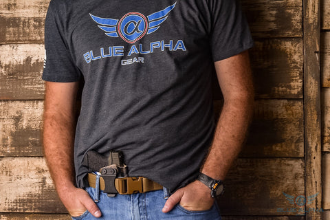 Blue Alpha Gear T-Shirt (Color Logo)