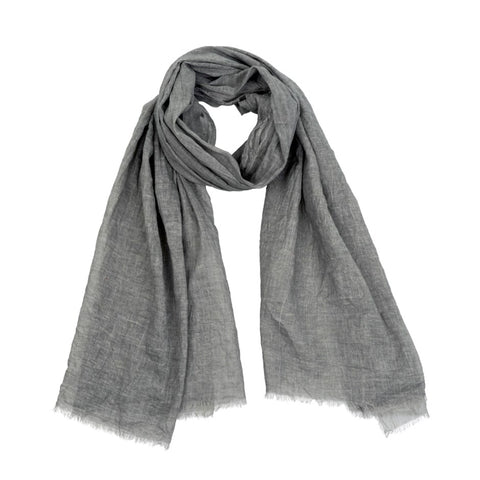 Cotton Cinzento Scarf