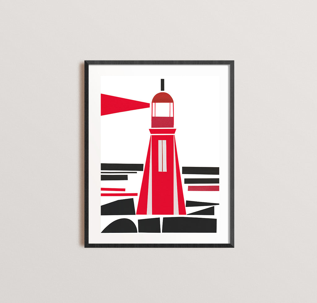 Zebuu Lighthouse Art Print