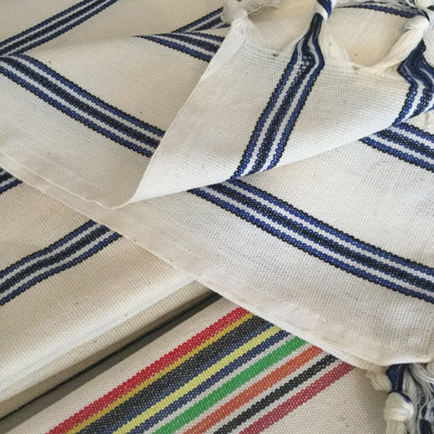 Zebuu Turkish Towel Izmir Blue Stripe