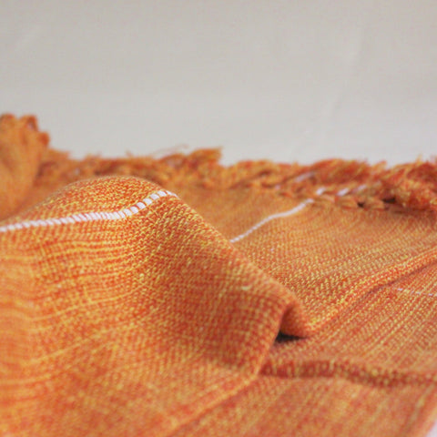 Brisa Cotton Blanket Orange