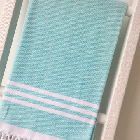 Zebuu Turquoise Turkish Towel