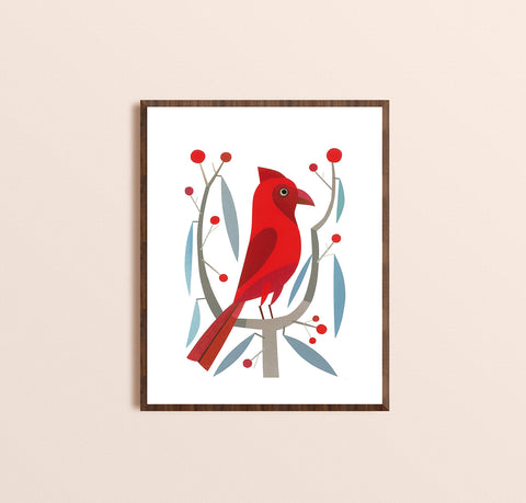 Zebuu Red Cardinal Art Print