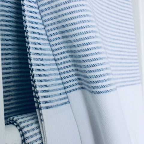Zebuu Turkish Towel Blue Stripes